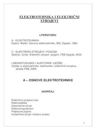 Predavanja A Elektrotehnika Pdf Document