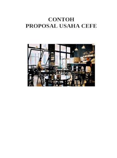 Contoh Proposal Usaha Cafe Doc Document