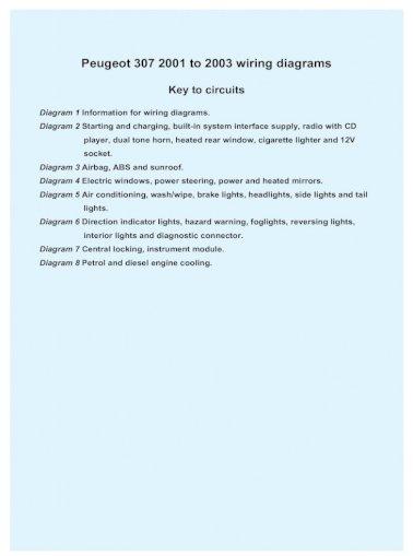 peugeot 307 wiring diagram  pdf document