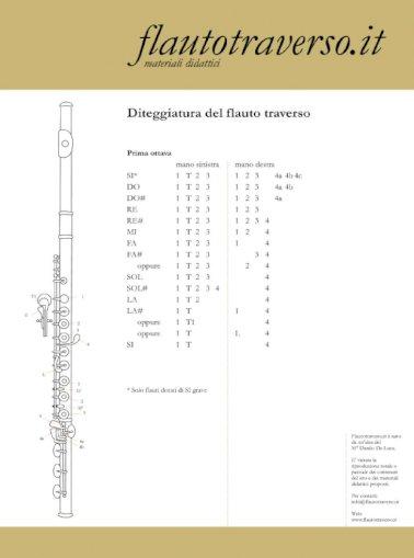 Flauto Traverso Diteggiatura 1 Ottava Pdf Document