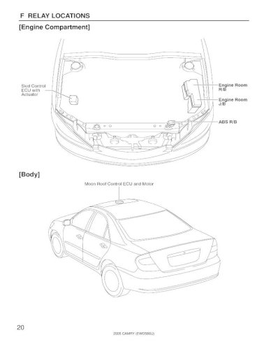 toyota camry 2005 electrical wiring diagrams ewd586u  pdf