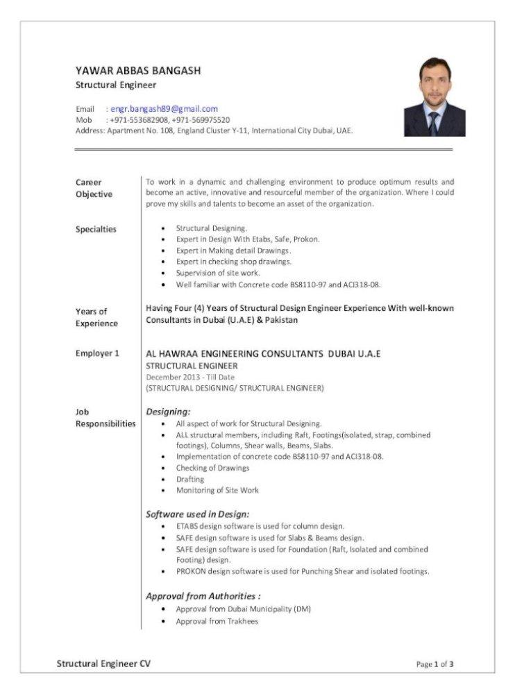 Yawar Abbas Structural Engineer Cv Pdf Document