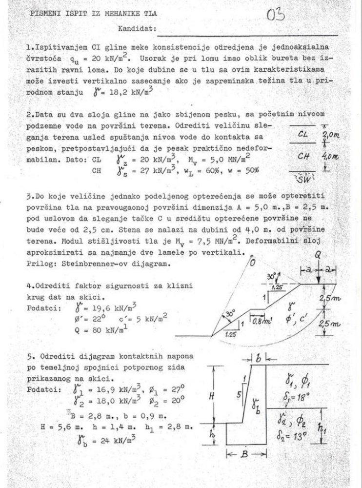 Pismeni Deo Ispita Iz Mehanike Tla Pdf Document